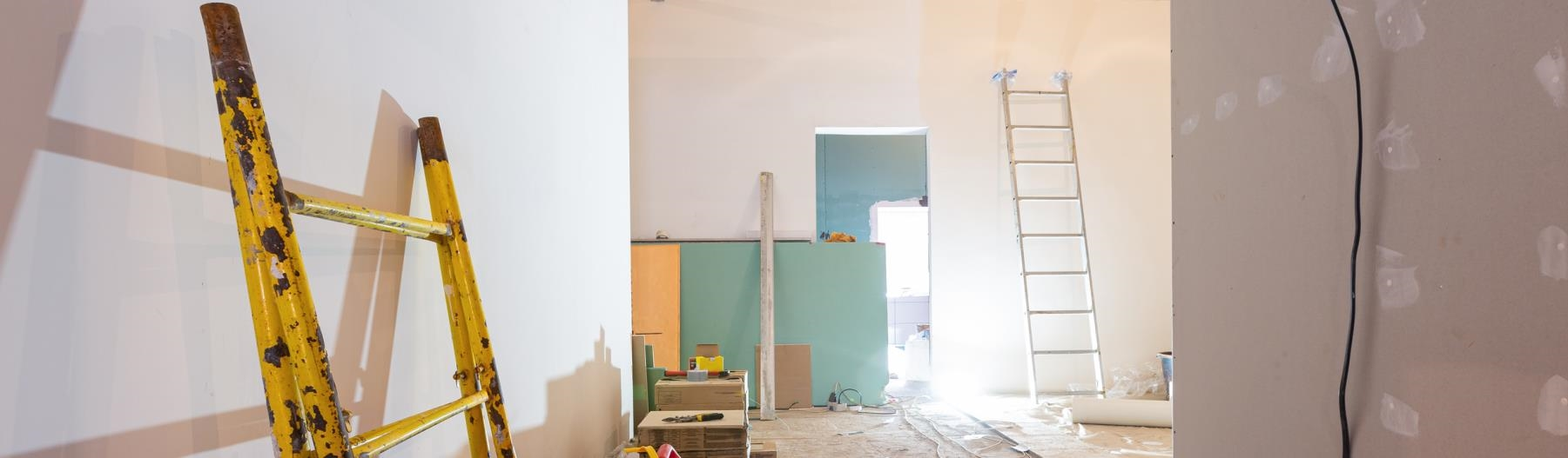 Image of a home under construction.