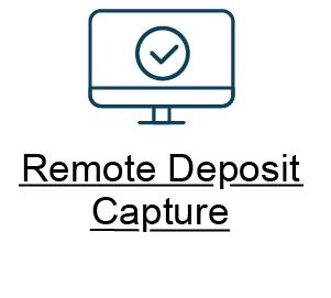 B Remote Deposit button