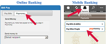 How to find Popmoney in your Bill Pay